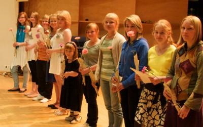 sarja kansanmusiikki, 12-14-vuotiaat, suuryhtyeet palkintojen jako